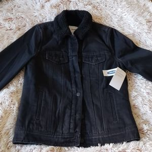 Brand 🆕 Old Navy Sherpa Lined Jean Jacket XS